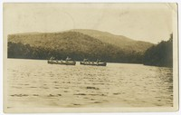 Boats on a lake, Andover, New Hampshire, 1901-1907