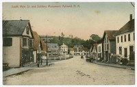 South Main St. and Soldiers Monuments, Ashland, New Hampshire, 1907-1914