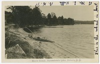 Shore scene, Masssabesie Lake, Auburn, New Hampshire, 1901-1907