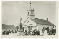 Soldier's Monument and Church, Center Barnstead, New Hampshire, 1915-1930