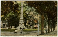 Abbott Square and Soldiers' Monument, Nashua, New Hampshire, 1907-1914