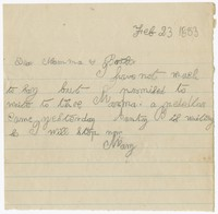To Anna Farquhar Brooke with Henry Brooke -- From Mary B. Brooke
