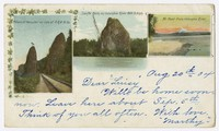 Pillars of Hercules,Castle Ron on Columbia River, Mt. Hood from Columbia River, undated, undated