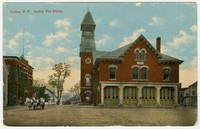 Central Fire Station, Nashua, New Hampshire, 1907-1914