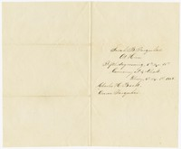 To Charles H. Brooke with Anna Farquhar Brooke -- From Sarah Brooke Farquhar