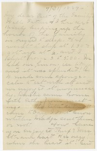 """To Charles H. Brooke with Brooke Family at """"Falling Green"""" -- From Mary B. Brooke"""