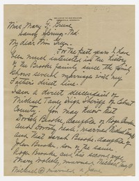 To Mary F. Green -- From Katharine Taney Silverson