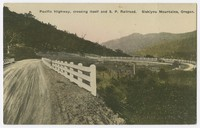 Pacific Highway and S.P. Railroad, Siskiyou Mountains, Oregon, undated, undated