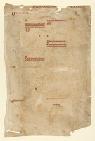 Unidentified proofsheet, 15th century
