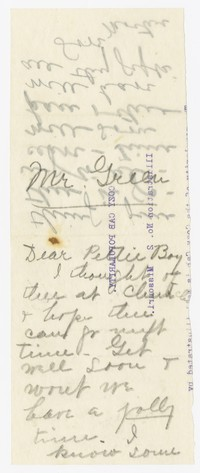 To Meredith Green -- From Edith F. Brooke Green