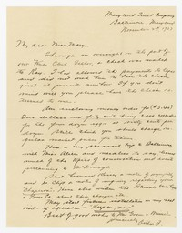 To Mary B. Brooke -- From Arthur [Farquhar]