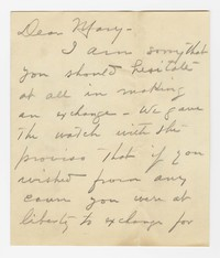 To Mary B. Brooke -- From Henry Brooke