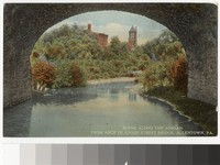 Scene along the Jordan from arch of Union Street Bridge, Allentown, Pennsylvania, 1907-1914