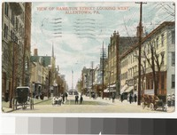 View of Hamilton Street looking west, Allentown, Pennsylvania, 1907-1908