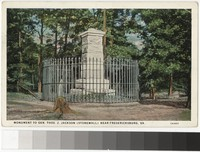 "Monument to General ""Stonewall"" Jackson, Fredericksbug, Virginia, 1915-1934"