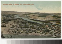 Birdseye View of Athens, Pennsylvania, from Round Top, 1907-1914