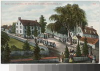 Depiction of a Moravian Funeral in Bethlehem, Pennsylvania, 1907-1914