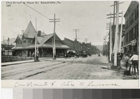 Erie Depot and Main Street, Bradford, Pennsylvania, 1898-1901