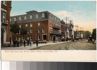 Hotel Harrison and North Main Street, Carbondale, Pennsylvania, 1901-1907
