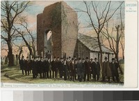 Congressional Committee posing in front of the Old Church, Jamestown, Virginia, 1901-1907