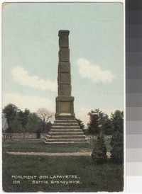 Monument to General Lafayette, Chadds Ford, Pennsylvania, 1907-1914