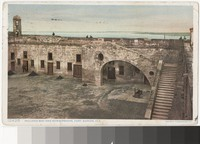 Inclined way and bomb proofs, Fort Marion, Florida, 1907-1914