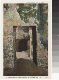 Dungeons at Fort Marion, St. Augustine, Florida, 1915-1930