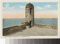Watch tower at Fort Marion, St. Augustine, Florida, 1907-1914