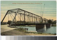 Bridge crossing the Susquehanna River, Clearfield, Pennsylvania, 1907-1914