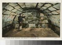 Secret dungeon at Fort Marion, St. Augustine, Florida, 1915-1930