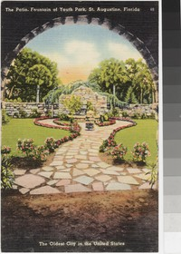 Patio at the Fountain of Youth Park, St. Augustine, Florida, 1930-1945