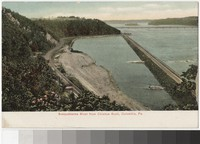 Susquehanna River from Chickus Rock [e.g. Chickies Rock], Columbia, Pennsylvania, 1901-1907