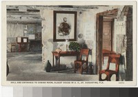 Interior of the oldest house in the United States, St. Augustine, Florida, 1915-1930