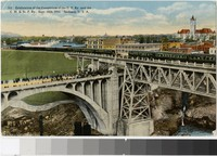 Celebration of the completion of the Union Pacific Railway, Spokane, Washington, 1914