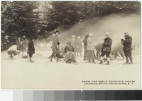 Skiers at the Eagle Mountain House, in the White Mountains, New Hampshire, 1907-1923