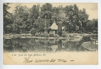 Lake in Druid Hill Park in Baltimore, Maryland, 1901-1905