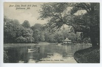 Boat Lake in Druid Hill Park in Baltimore, Maryland, 1901-1906