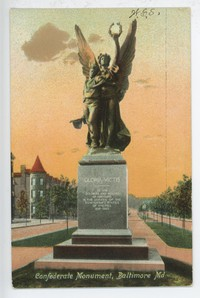 Confederate Monument in Baltimore, Maryland, 1907-1914