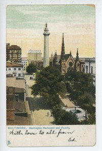 Washington Monument and vicinity in Baltimore, Maryland, 1901-1907