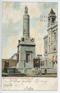 Battle Monument in Baltimore, Maryland, 1901-1906