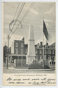Wells-McComas Monument in Baltimore, Maryland, 1901-1907