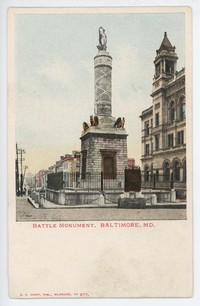 Battle Monument in Baltimore, Maryland, 1901-1907
