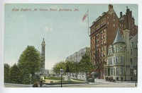 Hotel Stafford, Mt. Vernon Place in Baltimore, Maryland, 1907-1914