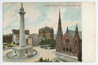 Mount Vernon Place in Baltimore, Maryland, 1906