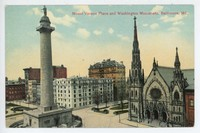Mount Vernon Place and Washington Monument,  Baltimore, Maryland, 1907-1914