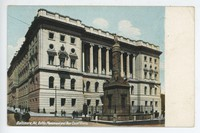 Battle Monument and new court house in Baltimore, Maryland, 1901-1907