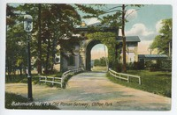 Old Roman Gateway, Clifton Park in Baltimore, Maryland, 1907-1914