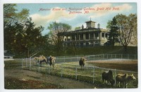 Mansion House and Zoological Gardens, Druid Hill Park, in Baltimore, Maryland, 1907-1914