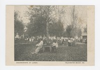 Excursionists at lunch in Tolchester Beach, Maryland, 1907-1914