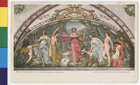"""""""Lyric Poetry"""" mural, Library of Congress, Washington, D.C., 1901-1905"""